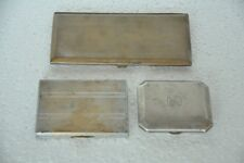 3 Pc Old Brass  Engraved Handcrafted Unique Cigarette Box / Case