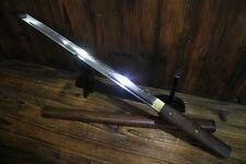 Japanese Rosewood T10 Clay Tempered Chokuto Wakizashi Ninjato Sword Full Tang