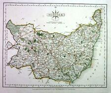 Antique map, Suffolk ..