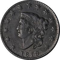 1819 Large Cent Small Date AU/BU Details N.8 R.1 Nice Eye Appeal Nice Strike