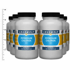 Potassium Chloride 3 Lb Total 6 Bottles Food Grade Fine Powder Usa Seller
