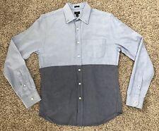 J Crew Slim Fit Oxford Blue Long Sleeve Button Front Shirt Men's Size Medium
