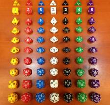 DZ667 Multi-Sid D4 D6 D8 D10 D12 D20 D30 DRAGONS D&D RPG Poly Dice Game 10pc Set