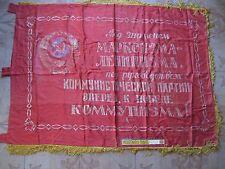 Soviet union original flag banner Lenin USSR Russian communist propaganda, large