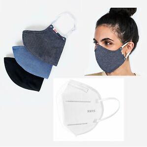 Face Mask-Hedley & Bennett awakeup & fight mask-Grey Oxford w 2 filter template