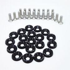 20pcs Black Billet Aluminum Fender Bumper Washer Engine Bay Dress Up Kit