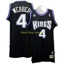 adidas Chris Webber Sacramento Kings Black Hardwood Classics Swingman Jersey M