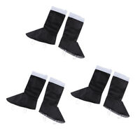Santa Boot Toppers Adults Kids Claus Christmas Costume Shoe Covers Tops