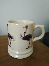 More details for vintage holkham pottery ostrich mug/tankard, collectable, rare, novelty, bird