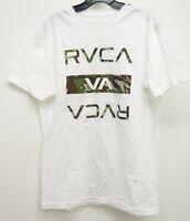 New RVCA x Buckle Mens Camo Logo Standard Skate Graphic Tee T-Shirt Size Medium