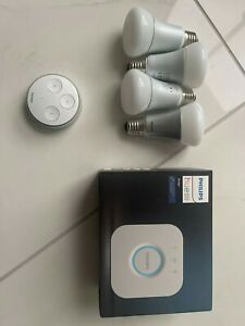 Hue Lighting Bundle - Gen 2 Bridge, 4 x E27 Colour Bulbs and Hue Tap