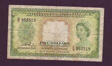 Malaya & British Borneo 5 dollars 1953   (ANDA16/L2)