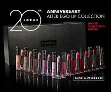 LORAC ALTER EGO Lip Gloss Lipstick Collection of 20 20th Anniversary Value