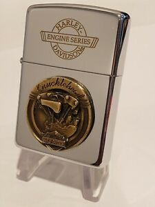 LIMITED EDITION Vintage HARLEY DAVIDSON Zippo Lighter ENGINE SERIES KNUCKLEHEAD