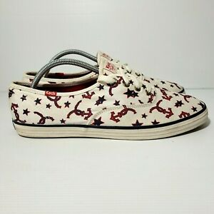 KEDS TAYLOR SWIFT Star & Anchor Lace Up SNEAKERS Size 11 Ltd Ed Hard To Find VGC