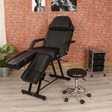 Black Manual Pedicure Chair Side Trolley Drawer & Stool Set Salon Beauty Wido