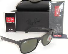 RAY-BAN WAYFARER LITEFORCE RB 4195 601S/9A 52MM MATTE BLACK / GREEN POLARIZED