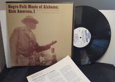 Negro Folk Music Of Alabama - Rich Amerson I  vinyl LP Folkways FE 4471 booklet
