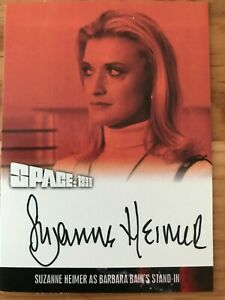 SPACE 1999 SERIES 4: AUTOGRAPH CARD: SUZANNE HEIMER AS BAIN'S STAND-IN SH2