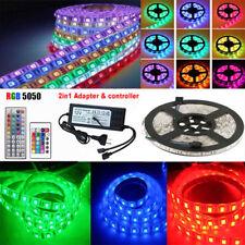 1m-20m LED Stripe RGB SMD 5050 30/60 LEDs Streifen Band Leiste Controller Trafo