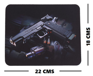 1911 .45 ACP MOUSE PAD/CLEANING PAD. 22CM X 18CM. NOVELTY MOUSE PAD.