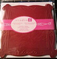 Studio G 12 count Blank Cards & Envelopes Burgundy 5 x 5 inch