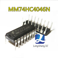 10PCS  MM74HC4046N IC LOCK LOOP PHASE CMOS 16-DIP new