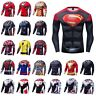 DC MARVEL AVENGERS SUPERHERO COSPLAY COMPRESSION PREMIUM Fitness Cycling T-SHIRT