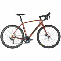 2019 TREK DOMANE SLR 6 DISC Carbon Road Bike Ultegra Mavic Carbon Wheels // 54cm