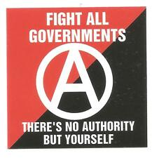 25 Fight all governments ADESIVI STICKERS anarco punk crust anarchia GNWP HC