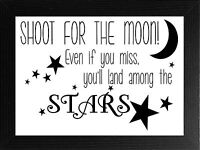 INSPIRATIONAL MOTIVATIONAL QUOTE MOON STARS A4 POSTER PRINT WALL ART