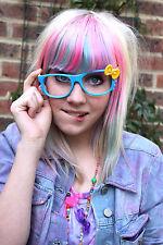 Kitty Lunettes Geek bow bleu, jaune goth kawaii emo punk Cutie.. pas de lens