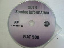 2014 CHRYSLER FIAT 500 Service Repair Workshop INFORMATION Shop Manual CD NEW