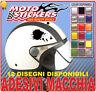 2 Adhesivos Mancha Uso Casco Moto Coche - Tuning Etiqueta Stickers