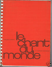 CATALOGUE GENERAL DISQUES LE CHANT DU MONDE 1975 MELODIYA FOLKWAYS MUSICAPHON