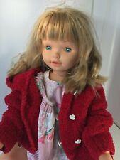 Grande poupée JESMAR Spain 80 cm, 1994…au manteau rouge