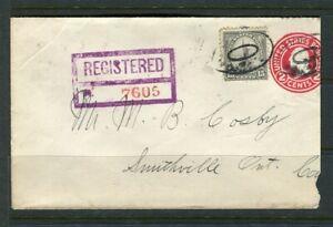 USA; Registered LETTER/COVER 1931 fine used Oakwood - Canada