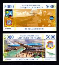 ★★ SAINT MARTIN / SINT MAARTEN : BILLET POLYMER 5000 FRANCS ★ ANTILLES FRAN.