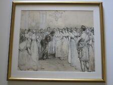 CHARLES MOREL 19TH CENTURY DRAWING PAINTING ORIGINAL MILITARY ROYALTY ANTIQUE