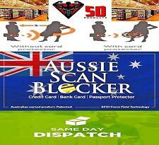 2 x AUSSIE SCAN BLOCKER  RFID Blocking Cards Protect your Debit & Credit Cards