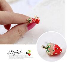 Boucles d'oreilles Anneaux esthétique généreux mignon charmant femmes fraises