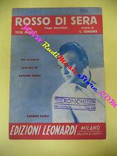 RARO SPARTITO SINGOLO LUCIANO TAJOLI Rosso di sera MANLIO CONCINA 1949 no cd lp
