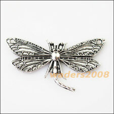 3 New Dragonfly Animal Connectors Tibetan Silver Tone Charms Pendants 30x48.5mm