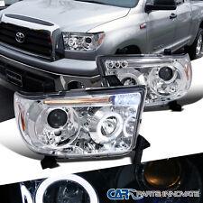 Toyota 07-13 Tundra Sequoia LED Halo Projector Headlights Lamp Chrome