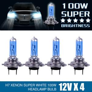 4x H7 100w Xenon Headlight Bulbs Super White 6000k Lamp Light Effect Hid 12v