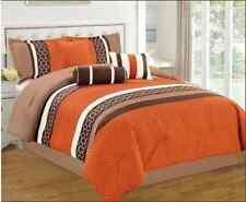 Hazel 7 Piece Striped Comforter Bed Set, Queen