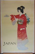 Japan Original National Tourist Organization Travel Poster Mitsumura Art Geisha