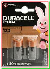 2 DURACELL 123 Batterie Pile Litio +40% CR 17345 Softair Foto Allarmi Sensori