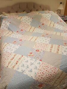 SuperKing Floral Vintage Patchwork Quilted Bedspread Only