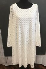 Pink Blush Womens Maternity Dress Size XL White Long Bell Sleeve Stretch Lace
